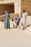Men work for excavation of tombs Royalty Free Stock Photography