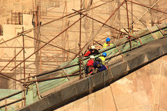 Men at Work on La Sagrada Familia Stock Photos