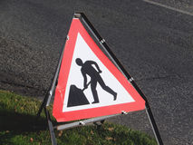 Men at Work Road Sign Royalty Free Stock Photography