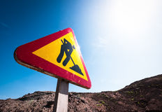 Men at work sign Stock Photography