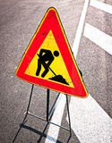Men at work sign Royalty Free Stock Photo