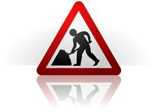 Men at Work Symbol Royalty Free Stock Images