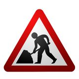 Men at Work Symbol. Under Construction Stock Photo