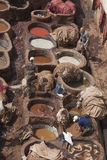Men at work in Tannery royalty free stock photo