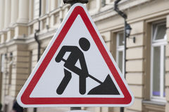 Men at Work Traffic Sign Royalty Free Stock Photo
