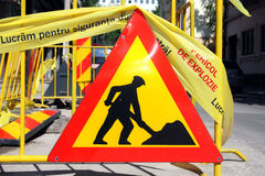 Men at work/ under construction. Royalty Free Stock Photos