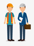 Men worker construction helmet icon graphic. Illustration eps 10 Stock Photo