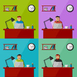 Men working in the office Stock Photos