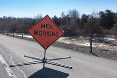 Men working sign_2 Royalty Free Stock Photography