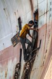 Men on working site stock photos