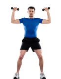 Men workout fitness bodybuilding weight training Royalty Free Stock Image