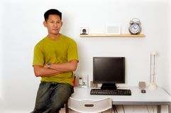 Men at the workplace Stock Image