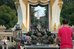 Men Worship Ganesh Memorial Stock Image