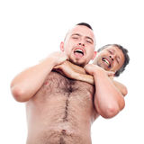 Men wrestling Royalty Free Stock Photos