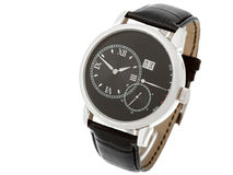 Men wrist watch with black thong. Stock Image