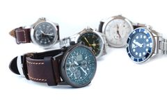Men wrist watch isolate on white Stock Image