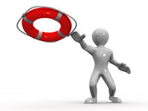 Men wtih lifepreserver Stock Images