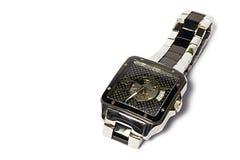 Men& x27; relógio de pulso de s isolado no fundo branco Imagens de Stock Royalty Free