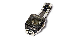 Men& x27; reloj de s aislado en el fondo blanco Imágenes de archivo libres de regalías