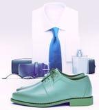 Men& x27; ropa y accesorios del negocio de s Foto de archivo