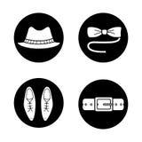 Men's accessories icons set Stock Image