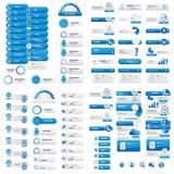 Menú y botones azules para el sitio web Fotos de archivo libres de regalías