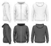 Men zip hoodie. Men hoodie design templates. Vector illustration royalty free illustration