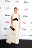 Mena Suvari arriving at the AFI Life Achievement Award Honoring Shirley MacLaine Royalty Free Stock Photos