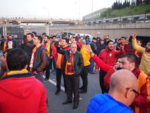 Menace de bombe de Galatasaray Fenerbahce Photo libre de droits