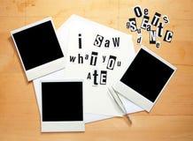 Menace pour une personne à la diète Photos libres de droits