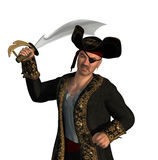 Menacing Pirate with Sword Stock Images
