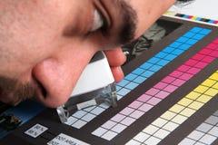 Menagement del color de la producción de la impresión Foto de archivo libre de regalías