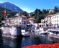 Menaggio harbour and town. Stock Images