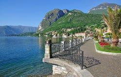 Menaggio, lac Como, arrivant voient, l'Italie Image stock