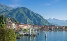 Menaggio sjön Como, person som är på väg att bli mycket framgångsrik ser, Italien Arkivbilder