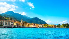 Menaggio town, Como Lake district landscape. Italy, Europe. stock photography