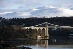 Menai Aufhebung-Brücke stockfotos
