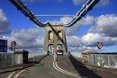 Menai Aufhebung-Brücke stockfoto