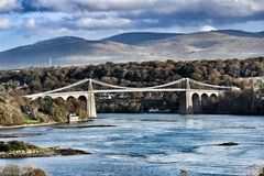 Menai Brücke Lizenzfreie Stockbilder