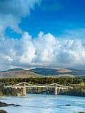 Menai Brücke Stockbild
