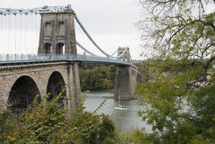 Menai Bridge Royalty Free Stock Image