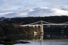 Menai Suspension Bridge Royalty Free Stock Image