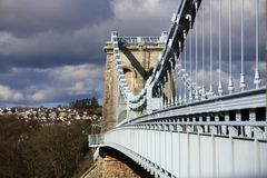 Menai Suspension Bridge Royalty Free Stock Images