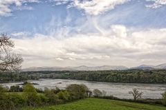Menai Suspension Bridge, Mainland of Wales to Isle of Anglesey, UK Stock Images