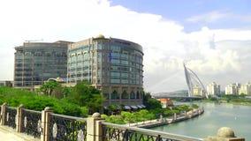 Menara在修建布城马来西亚的政府的Seri Wilayah 股票录像