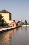Menara庭院在马拉喀什 库存图片