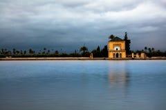 menara de Marrakech de jardin Image stock