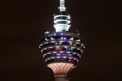 Menara Kuala Lumpur - TV tower. Night detail of Menara TV tower, Kuala Lumpur, Malaysia Royalty Free Stock Photos