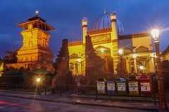 Menara Kudus - историческая мечеть башни Kudus Стоковые Изображения RF
