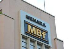 Menara MBf facade in Kota Kinabalu, Malaysia Royalty Free Stock Photos